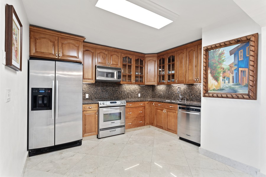 Real Estate Photography - 8777 Collins Ave #606, Surfside, FL, 33154 - Kitchen