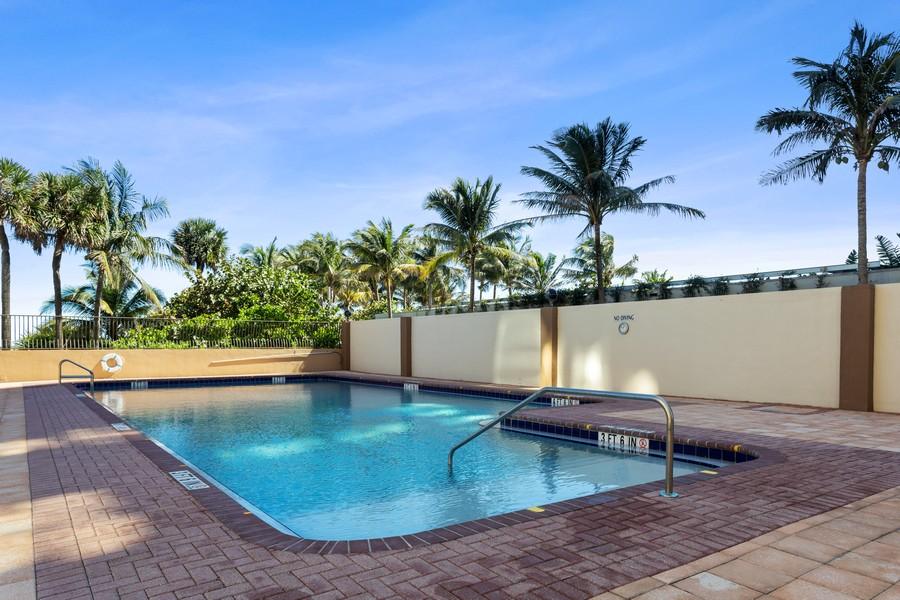 Real Estate Photography - 8777 Collins Ave #606, Surfside, FL, 33154 - Pool