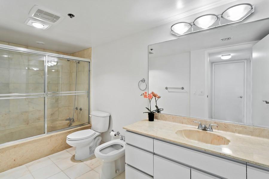 Real Estate Photography - 8777 Collins Ave #606, Surfside, FL, 33154 - 2nd Bathroom