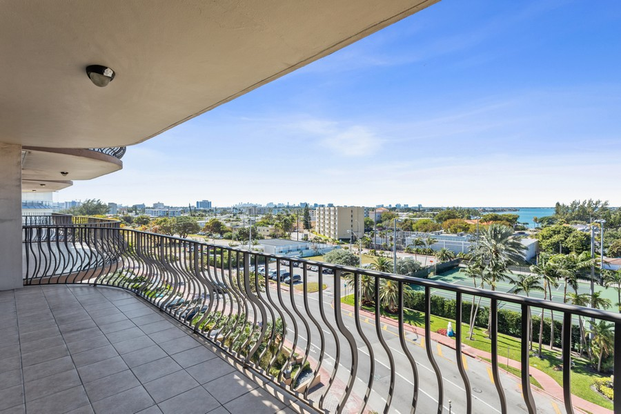 Real Estate Photography - 8777 Collins Ave #606, Surfside, FL, 33154 - Balcony