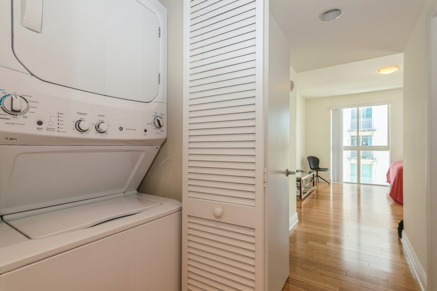 Real Estate Photography - 7285 SW 90th St, Unit D613, Miami, FL, 33156 - Laundry Room