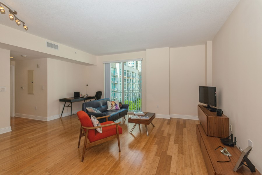 Real Estate Photography - 7285 SW 90th St, Unit D613, Miami, FL, 33156 - Living Room / Dining Room