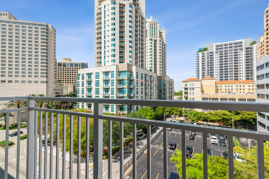 Real Estate Photography - 7285 SW 90th St, Unit D613, Miami, FL, 33156 - Balcony