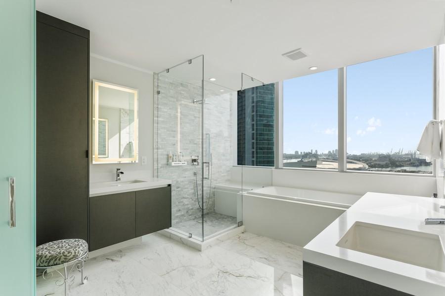 Real Estate Photography - 851 NE 1ST STREET #1611, Miami, FL, 33132 - Primary Bathroom
