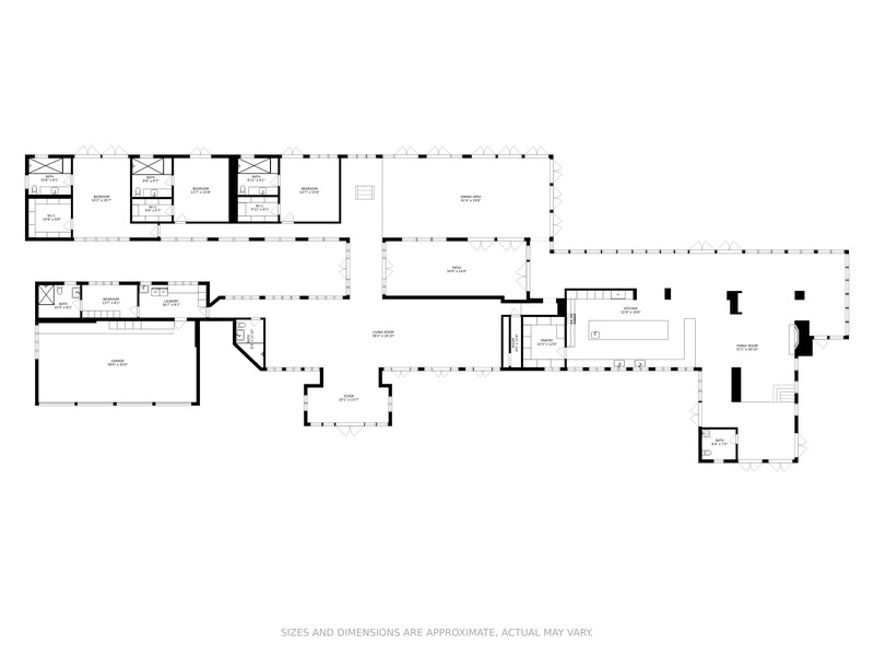 Real Estate Photography - 6801 Granda Blvd, Coral Gables, FL, 33146 - Floor Plan