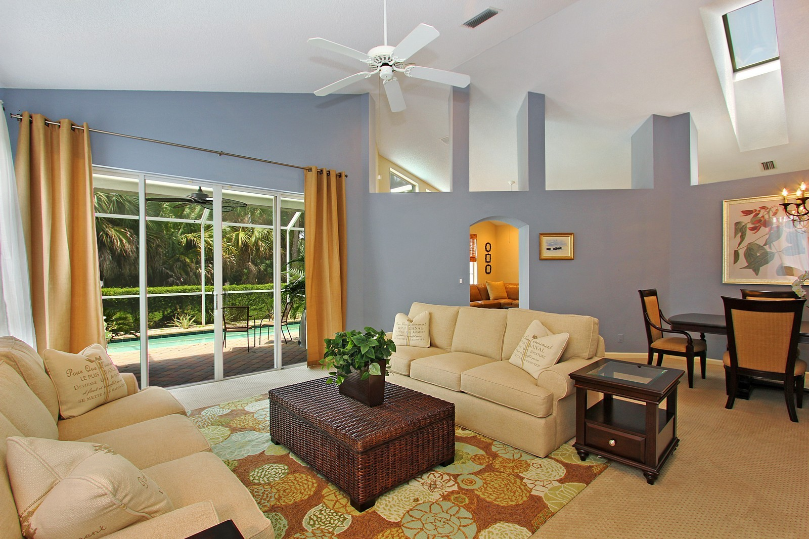 Real Estate Photography - 9107 BAYBURY Lane, West Palm Beach, FL, 33411 - Living Room