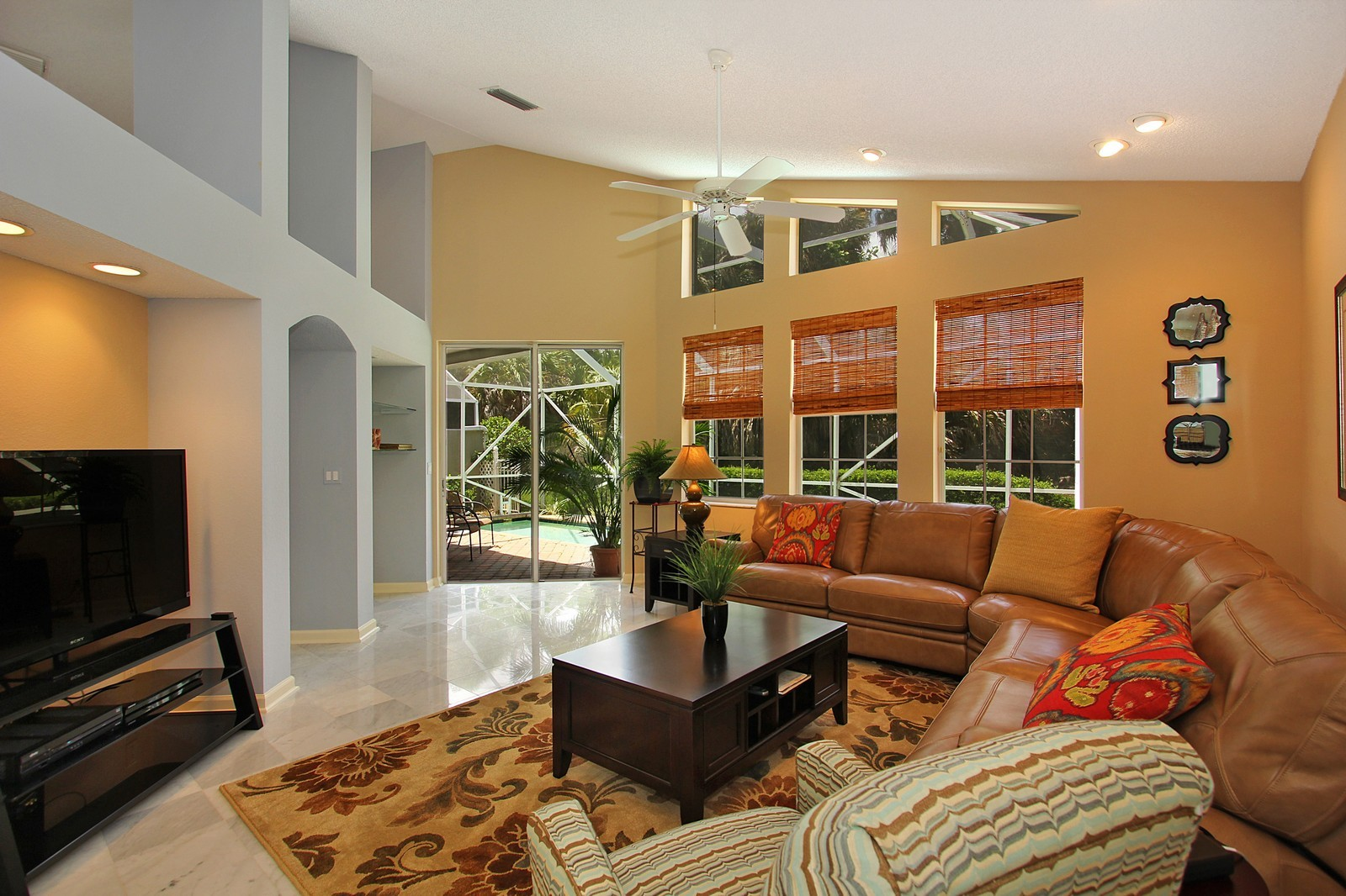 Real Estate Photography - 9107 BAYBURY Lane, West Palm Beach, FL, 33411 - Family Room