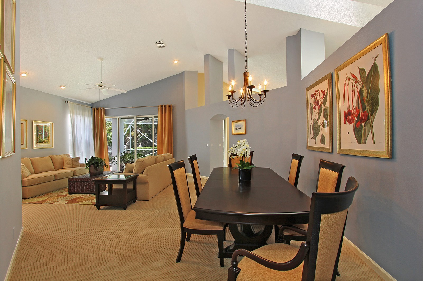 Real Estate Photography - 9107 BAYBURY Lane, West Palm Beach, FL, 33411 - Living Room / Dining Room