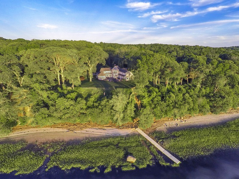 Real Estate Photography - 1 Piper Ln, Head of the Harbor, NY, 11780 - Aerial View