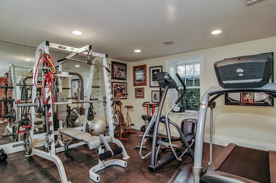 Real Estate Photography - 46 Morgan Dr, Old Westbury, NY, 11568 - Gym