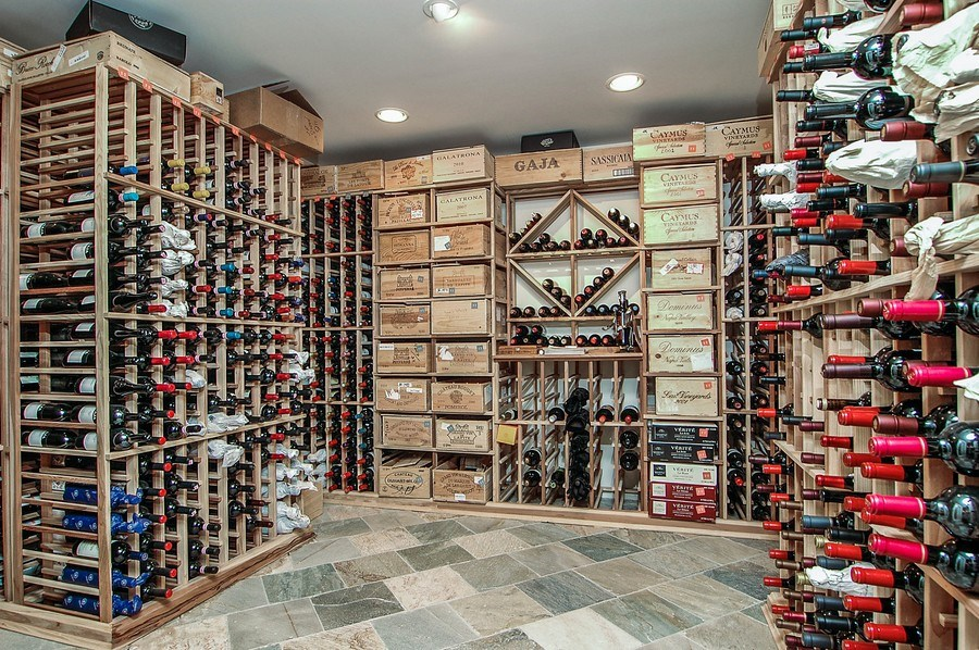 Real Estate Photography - 46 Morgan Dr, Old Westbury, NY, 11568 - Wine Cellar