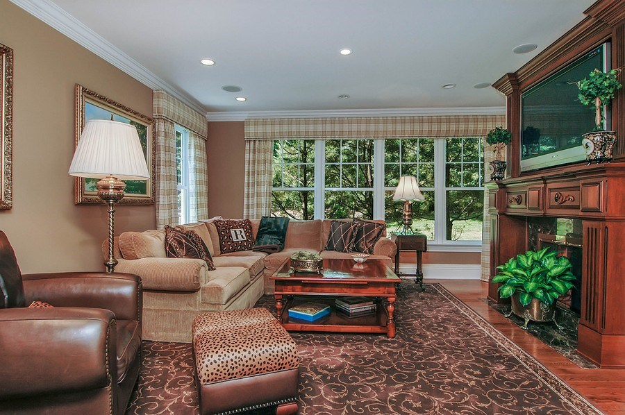 Real Estate Photography - 46 Morgan Dr, Old Westbury, NY, 11568 - Family Room
