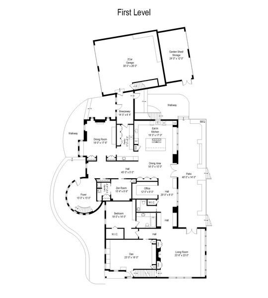 Real Estate Photography - 114 Glenmore Ave, Montauk, NY, 11954 - Floor Plan
