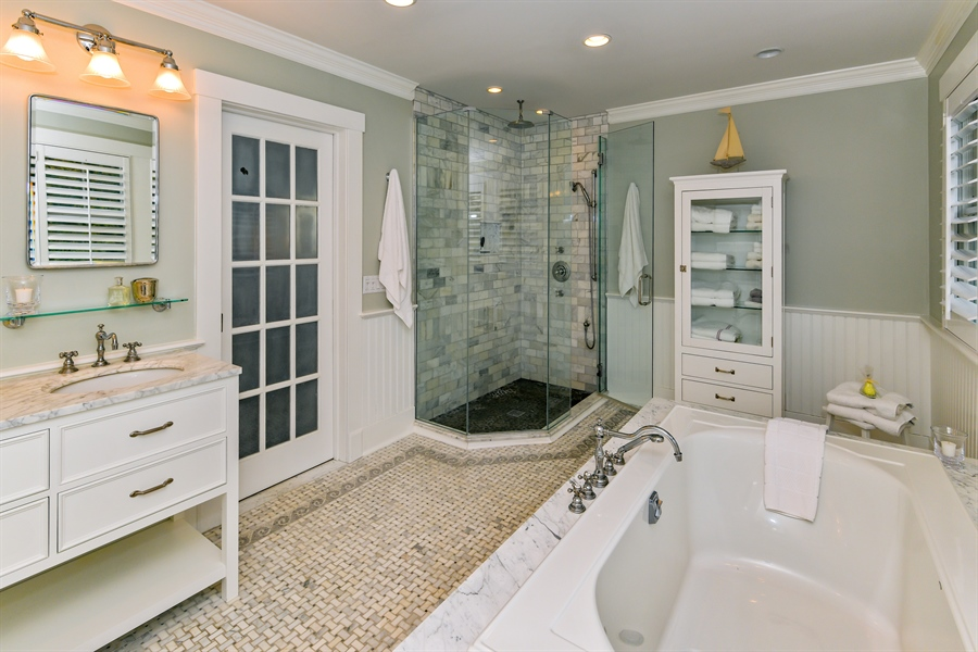 Real Estate Photography - 7080 Great Peconic Bay Blvd, Laurel, NY, 11948 - Master Bathroom