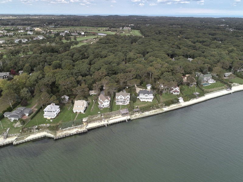 Real Estate Photography - 7080 Great Peconic Bay Blvd, Laurel, NY, 11948 - Aerial View