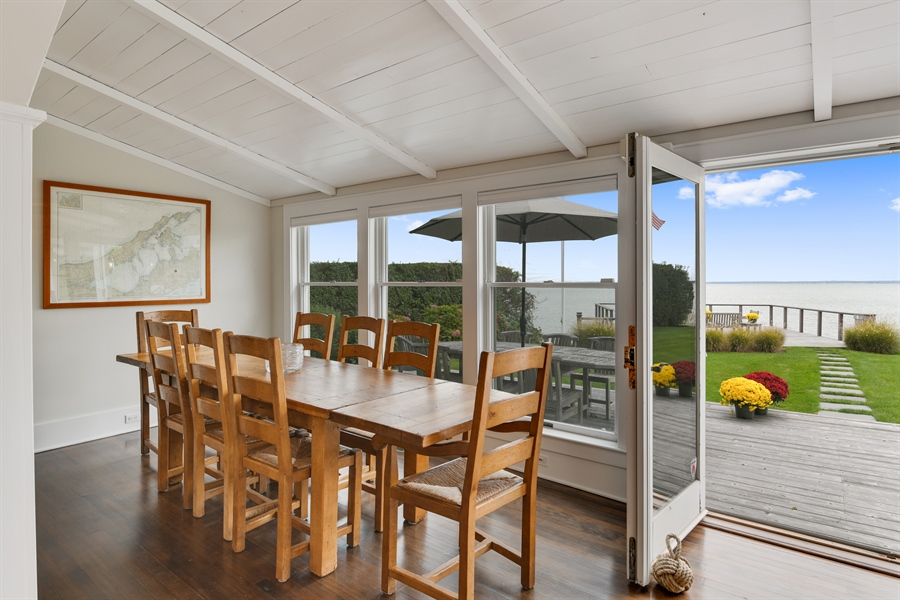 Real Estate Photography - 7080 Great Peconic Bay Blvd, Laurel, NY, 11948 - Dining Room