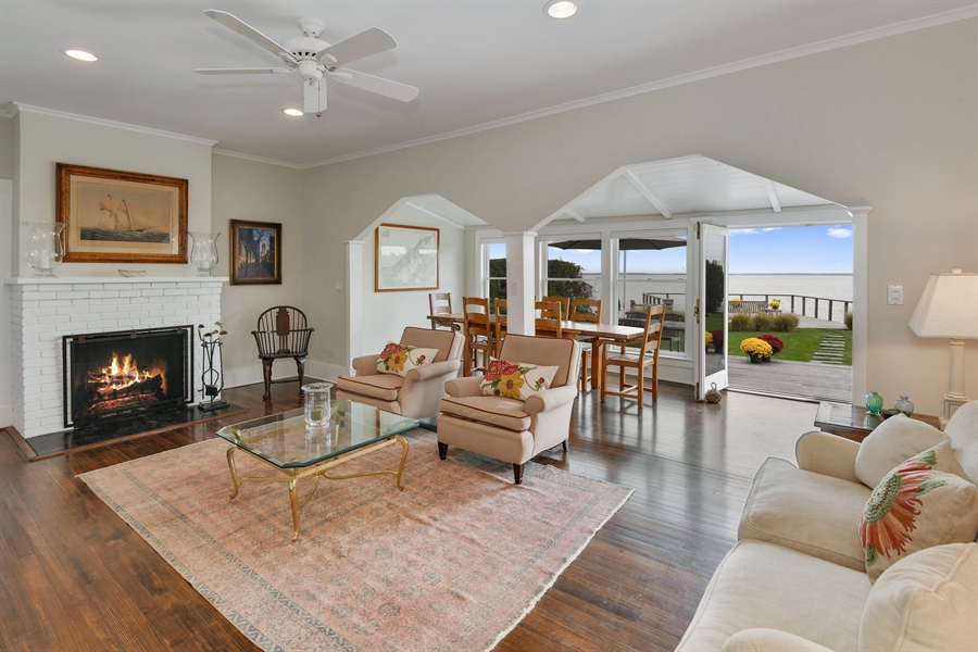 Real Estate Photography - 7080 Great Peconic Bay Blvd, Laurel, NY, 11948 - Living Room / Dining Room