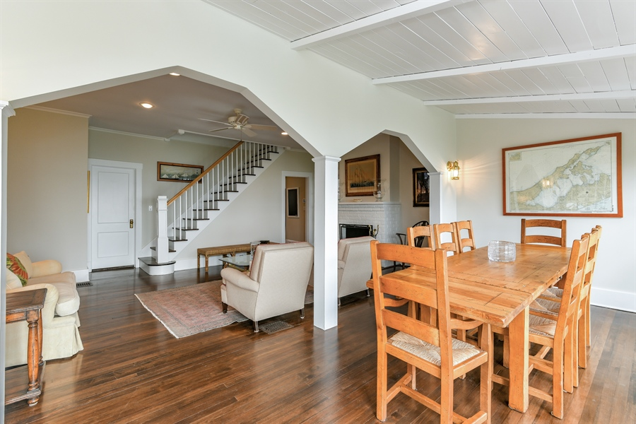 Real Estate Photography - 7080 Great Peconic Bay Blvd, Laurel, NY, 11948 - Living Room/Dining Room