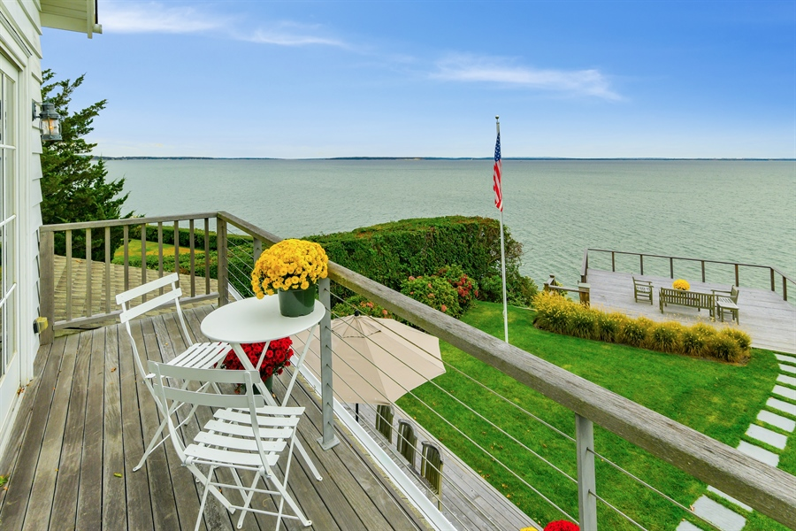 Real Estate Photography - 7080 Great Peconic Bay Blvd, Laurel, NY, 11948 - Balcony