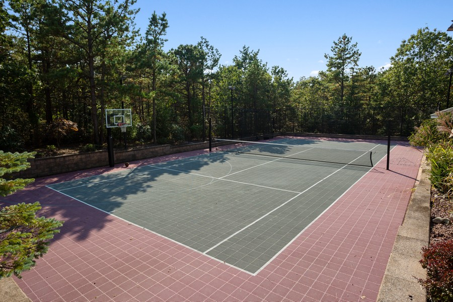 Real Estate Photography - 8 Old Schoolhouse Rd, Manorville, NY, 11949 - Tennis and Basketball Court