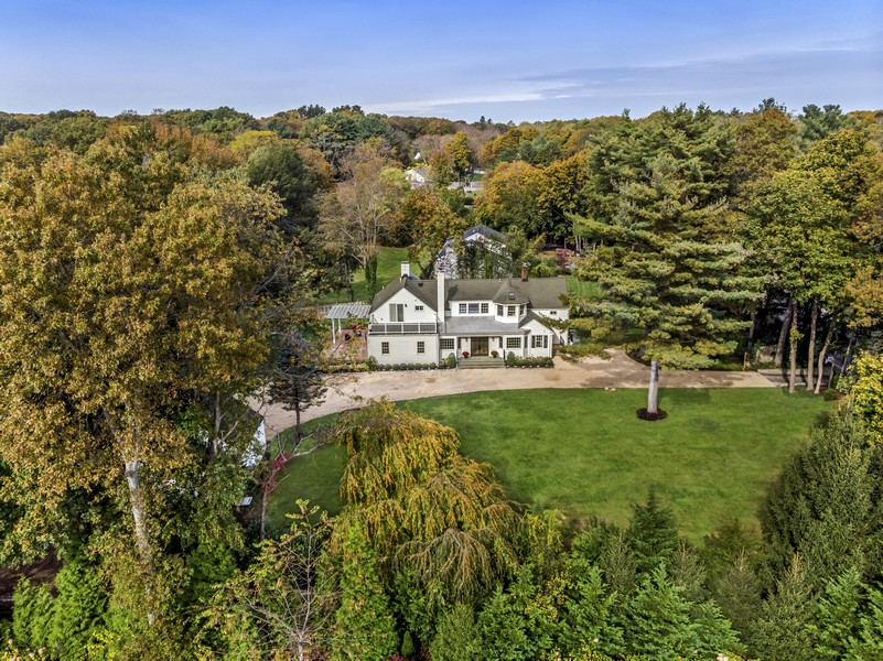 Real Estate Photography - 345 Split Rock Rd, Syosset, NY, 11791 - Aerial View