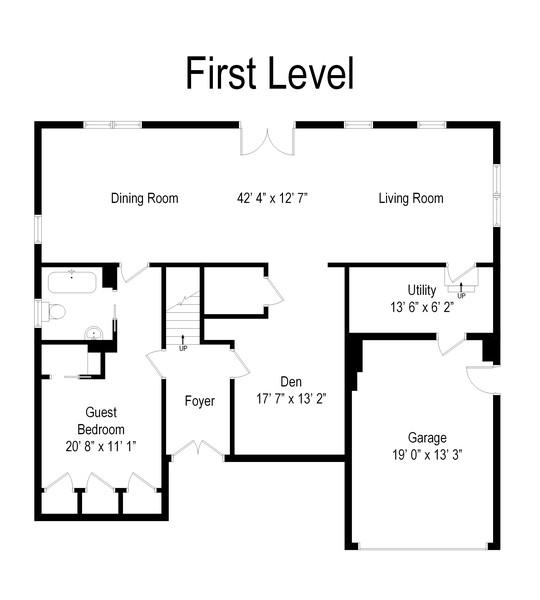 Real Estate Photography - 110 Surf Rd, Lindenhurst, NY, 11757 - Floor Plan