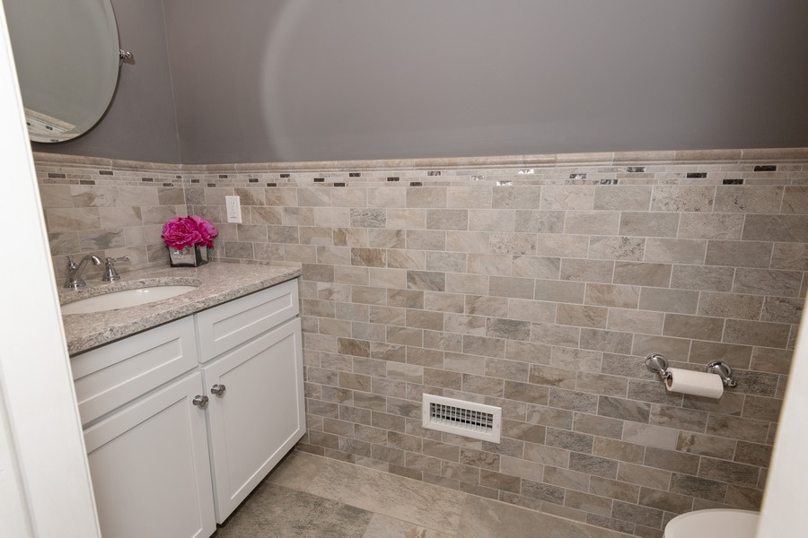 Real Estate Photography - 316 Bellmore Rd, East Meadow, NY, 11554 - Powder Room