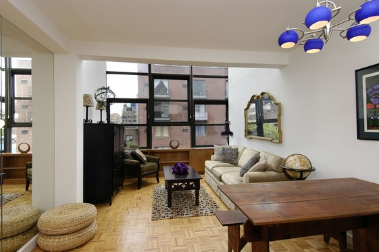 Real Estate Photography - 350 E 62nd St, Apt 5Q, New York, NY, 10022 - Living Room / Dining Room