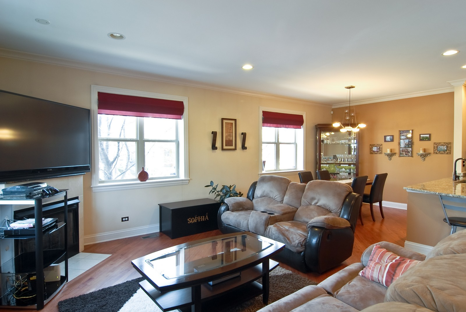 Real Estate Photography - 2217 N. Oakley, 1N, Chicago, IL, 60647 - Living Room / Dining Room