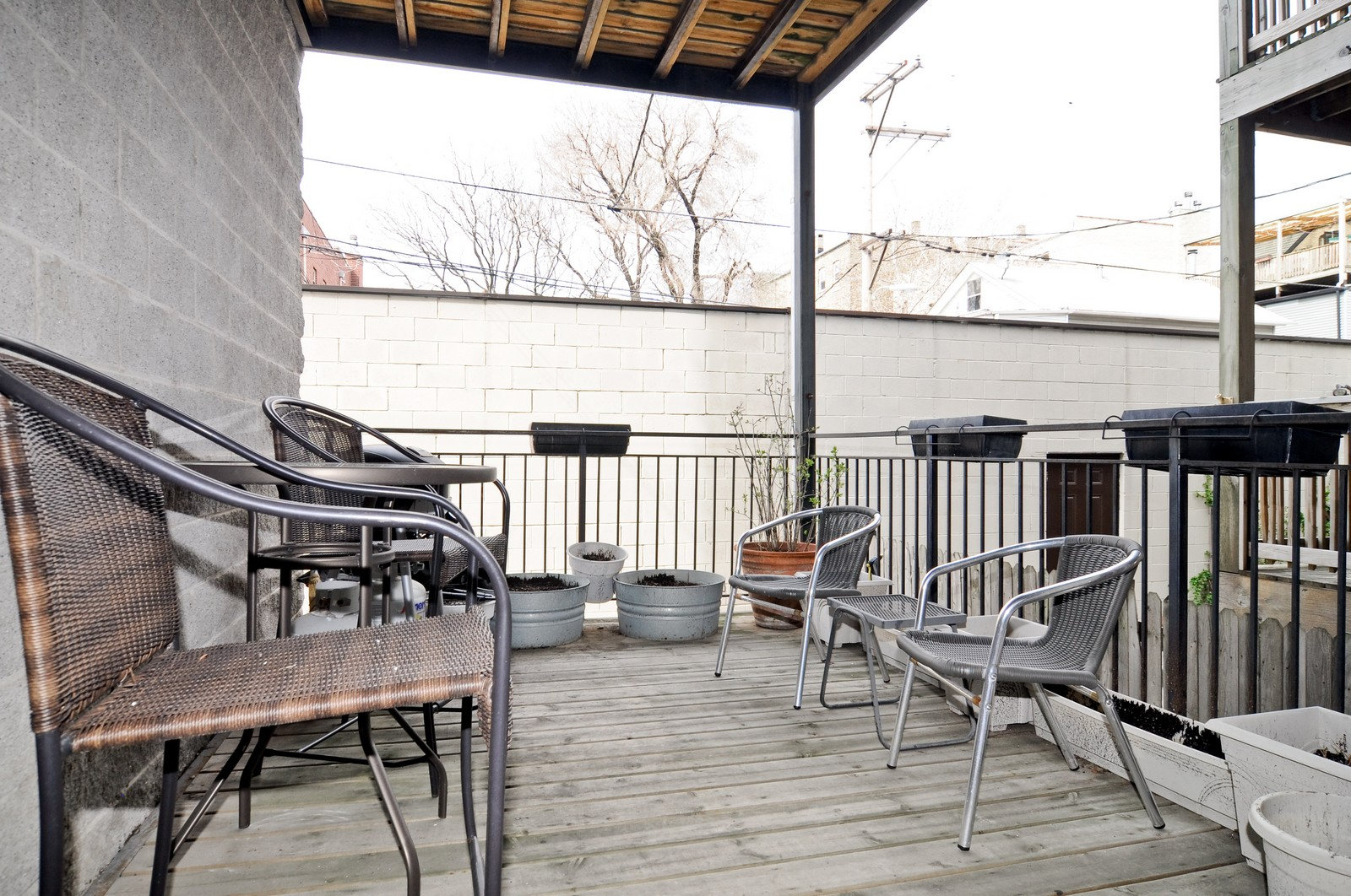 Real Estate Photography - 1414 W. Chestnut, 1, Chicago, IL, 60622 - Deck