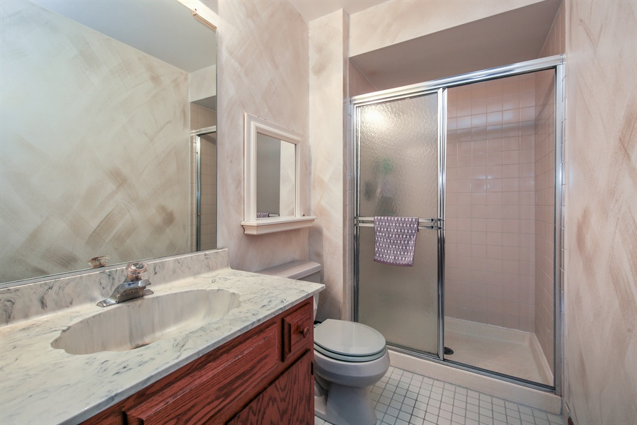 Real Estate Photography - 10909 Chaucer, Willow Springs, IL, 60480 - 2nd Bathroom