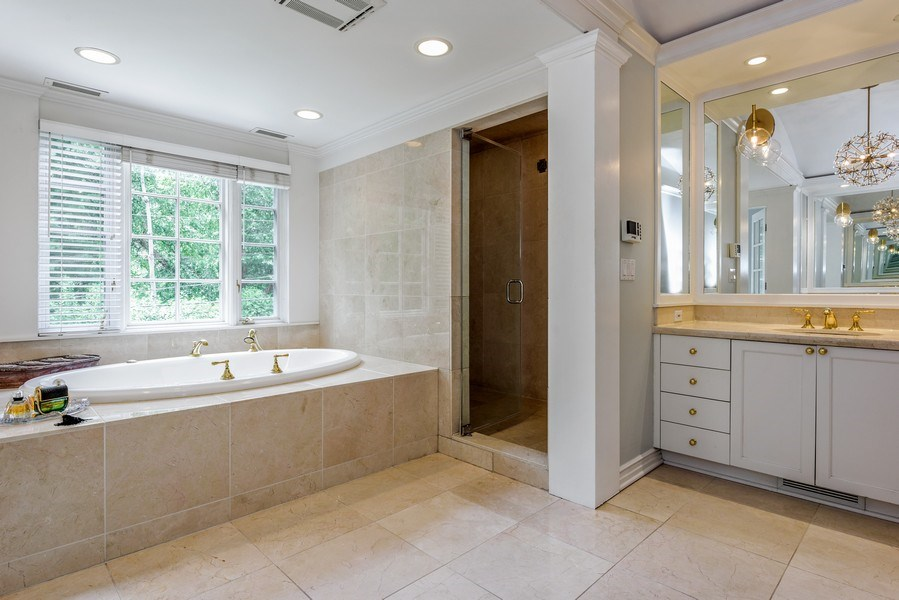 Real Estate Photography - 9420 Hamlin Ave., Evanston, IL, 60203 - Master Bathroom