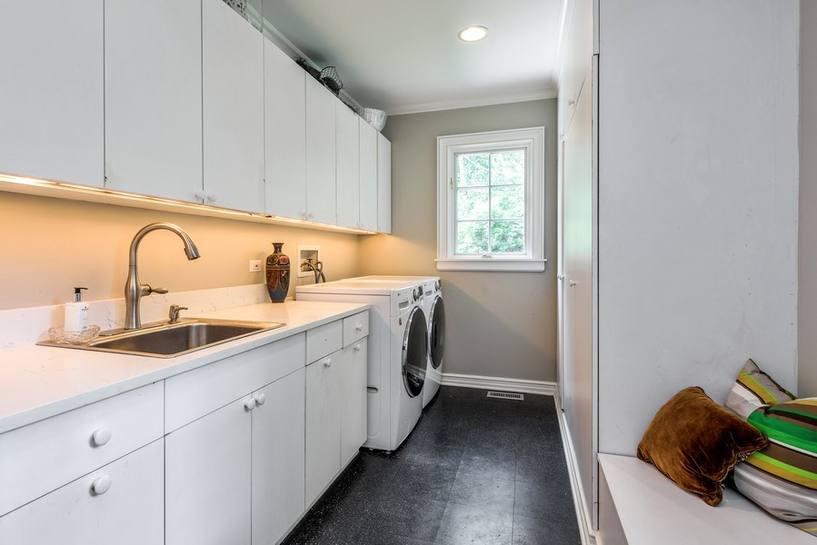 Real Estate Photography - 9420 Hamlin Ave., Evanston, IL, 60203 - Laundry Room