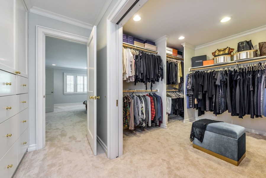 Real Estate Photography - 9420 Hamlin Ave., Evanston, IL, 60203 - Master Bedroom Closet