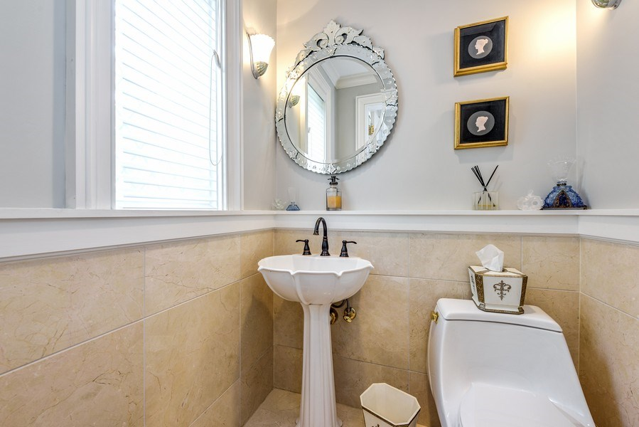 Real Estate Photography - 9420 Hamlin Ave., Evanston, IL, 60203 - Half Bath