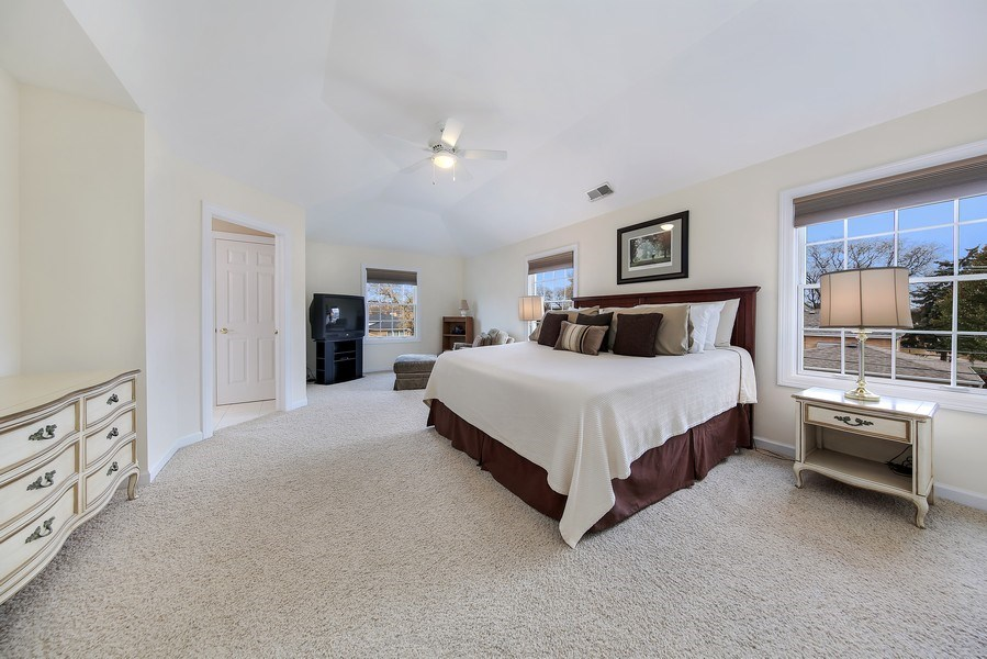 Real Estate Photography - 1529 Robinhood, LaGrange Park, IL, 60526 - Master Bedroom