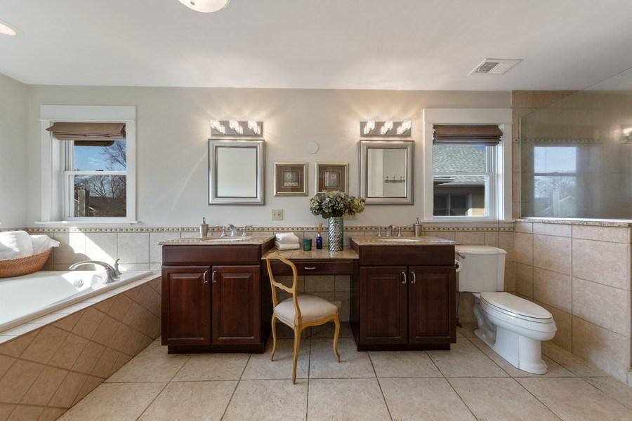 Real Estate Photography - 136 S Catherine Ave, La Grange, IL, 60525 - Master Bathroom