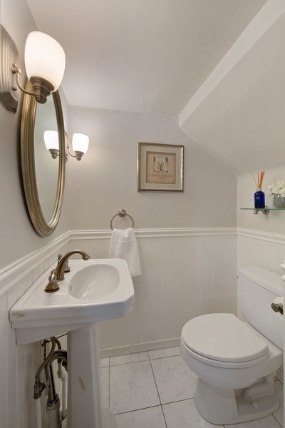 Real Estate Photography - 136 S Catherine Ave, La Grange, IL, 60525 - Powder Room