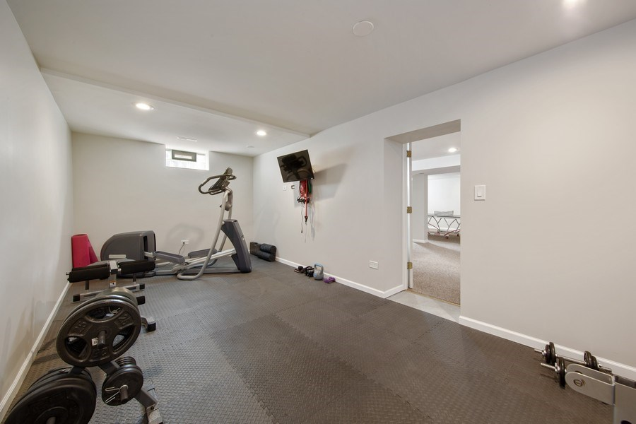 Real Estate Photography - 136 S Catherine Ave, La Grange, IL, 60525 - Fitness Room