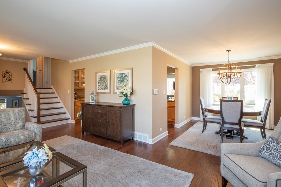 Real Estate Photography - 403 E. Ivy Lane, Arlington Heights, IL, 60004 - Living Room / Dining Room