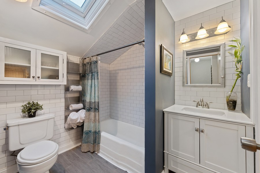 Real Estate Photography - 2316 Bluebird Lane, Rolling Meadows, IL, 60008 - 2nd Bathroom