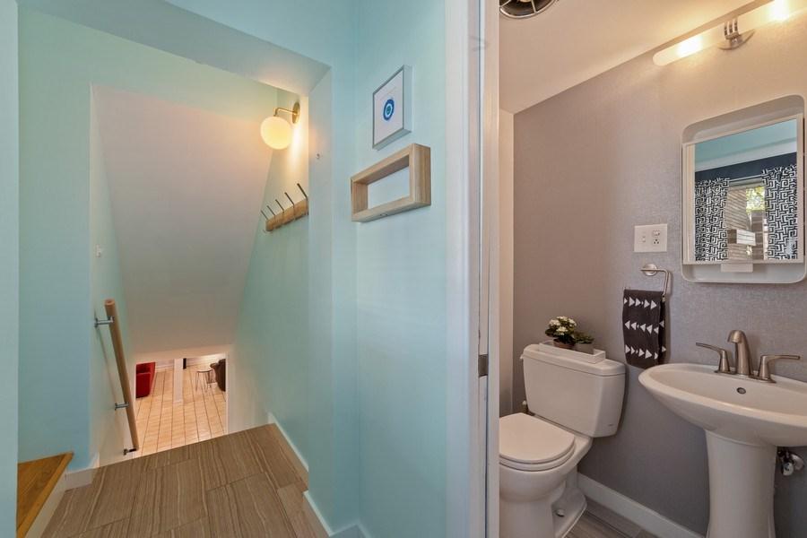 Real Estate Photography - 1144 Community Dr, La Grange Park, IL, 60526 - Powder Room