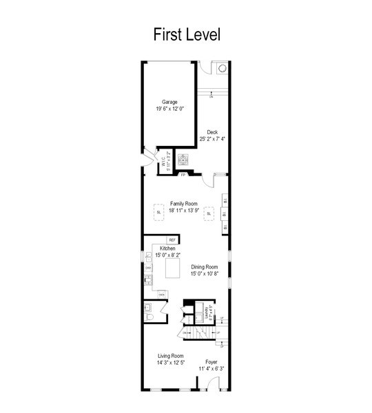 Real Estate Photography - 1652 N. Cleveland Ave., Chicago, IL, 60614 - Floor Plan