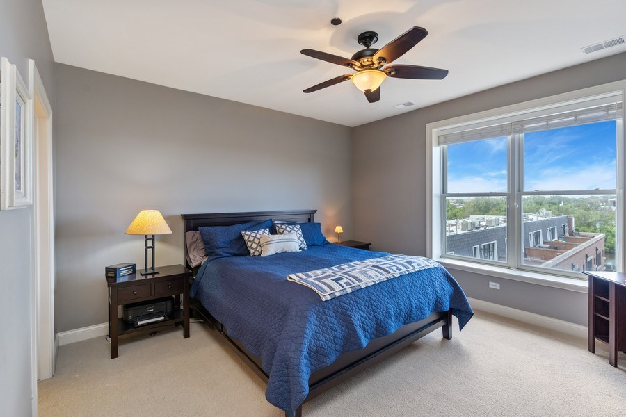 Real Estate Photography - 2811 N Bell, Unit 406, Chicago, IL, 60618 - Master Bedroom