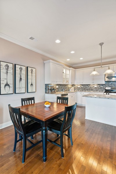 Real Estate Photography - 2811 N Bell, Unit 406, Chicago, IL, 60618 - Dining Room
