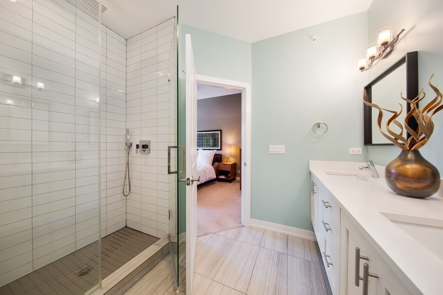 Real Estate Photography - 318 Pennsylvania Way, Oak Park, IL, 60302 - Master Bathroom