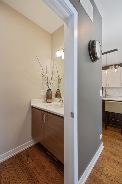 Real Estate Photography - 318 Pennsylvania Way, Oak Park, IL, 60302 - Powder Room