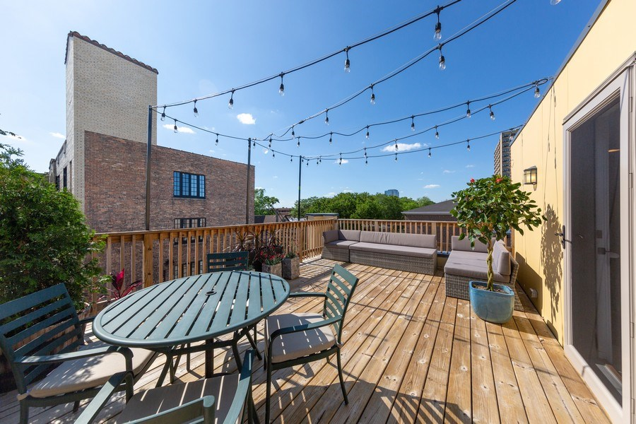 Real Estate Photography - 318 Pennsylvania Way, Oak Park, IL, 60302 - Deck
