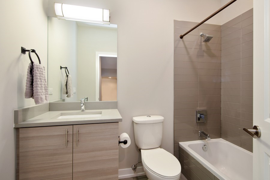 Real Estate Photography - 318 Pennsylvania Way, Oak Park, IL, 60302 - 2nd Bathroom