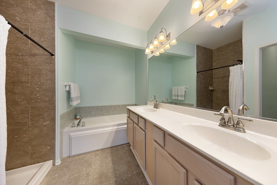 Real Estate Photography - 2588 Camberley Cir, Westchester, IL, 60154 - Master Bathroom